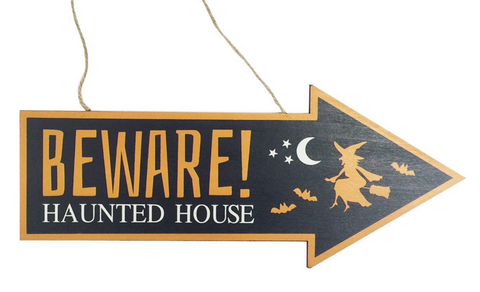 Colourful, Halloween Wooden Arrow Signs