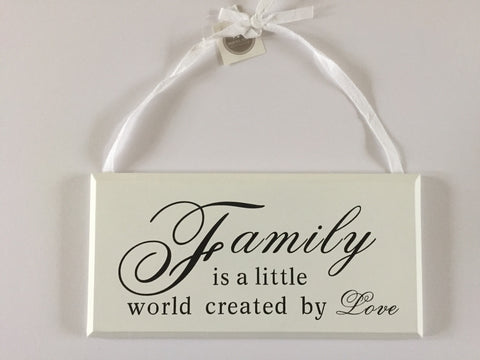 Hanging Wooden Sign - Family