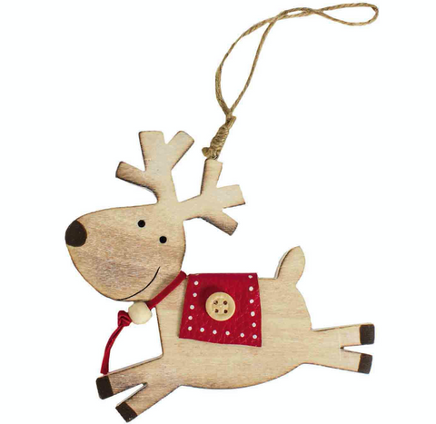 eindeer with red saddle, decorated both sides, Christmas Tree Decoration, Heaven Sends