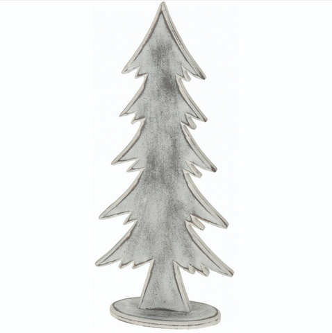 Wooden White Washed Christmas Tree, Shabby Chic