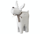 Wooden, White Washed, Reindeer (Small)