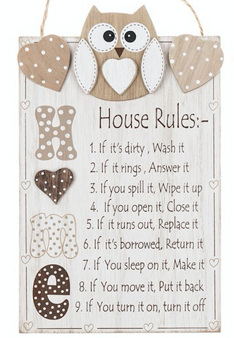 Woody Owl House Rules, Plaque, close up