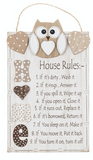 Woody Owl House Rules, Plaque