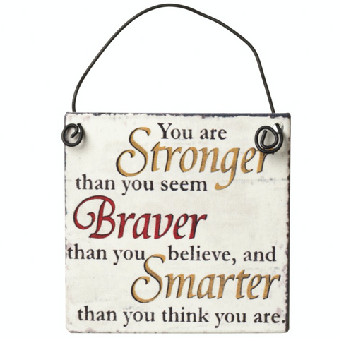 You are Stronger than you seem, mini metal sign