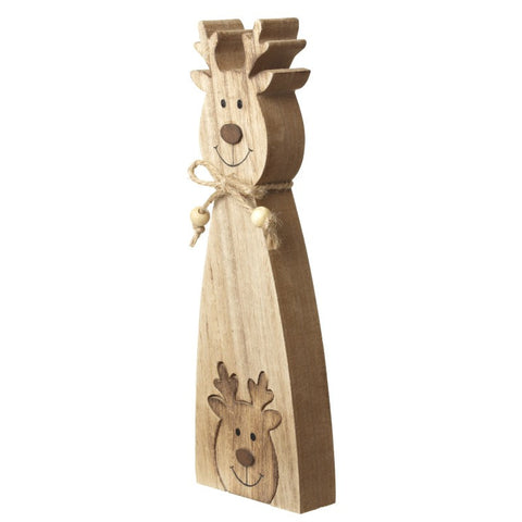 Wooden Reindeer Jigsaw Decoration