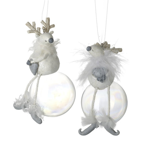 Reindeer Sitting On A Bauble