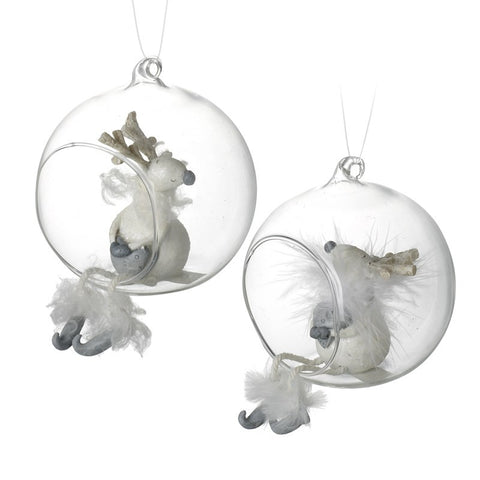 Reindeer Sitting In A Bauble
