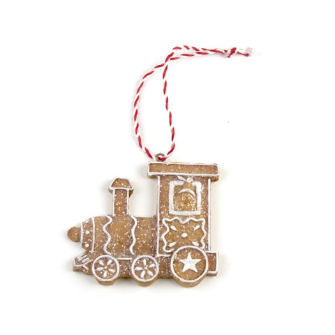 Gingerbread, Hanging Train, Tree decoration