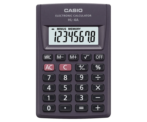 CALCULADORA CASIO portatil HL 4 A