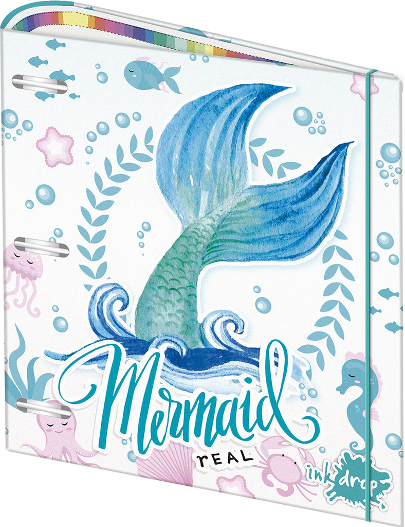 CARPETA ESCOLAR 3X40 INKDROP MERMAIDS