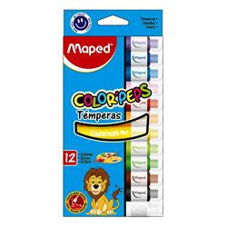 TEMPERA MAPED COLOR PEPS X 12 COL ***