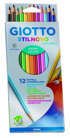 LAPICES DE COLORES GIOTTO STILNOVO ACUARELABLES X 12