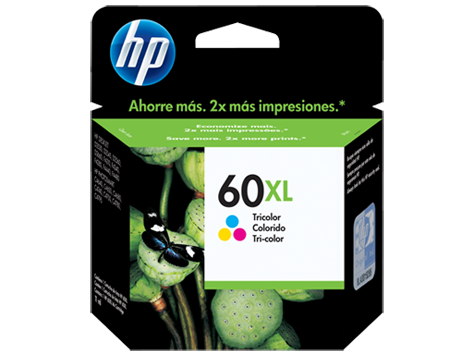 HP 60XL TRICOLOR CC644WL P/HP F4280 12ML