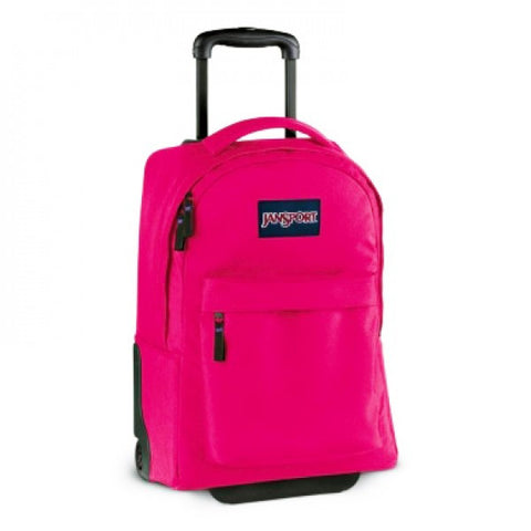 MOCHILA JANSPORT WHEELED CYBER PINK