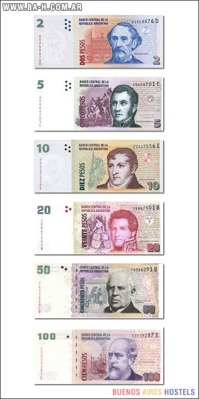 BILLETES COTILLON SURTIDOS EN BLISTER (de $2,- hasta $500,-)