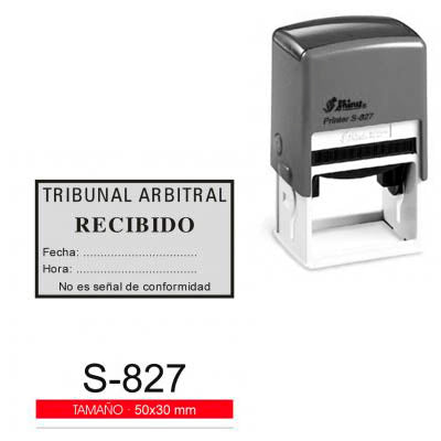 SELLO AUTOMATICO SHINY S-827 50X30MM CON TEXTO