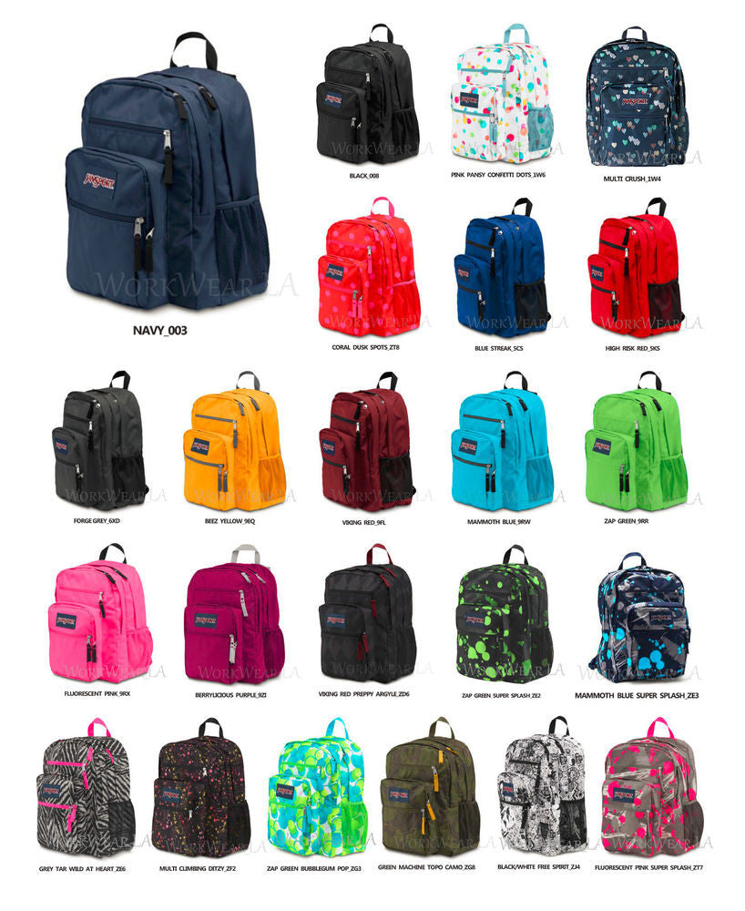 "*MOCHILA JANSPORT Serie BIG STUDENT """"Modelo a elegir del stock actual"""""""