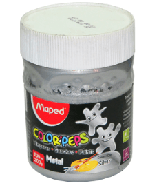 "TEMPERA MAPED POTE 200GR "" METALIZADA """