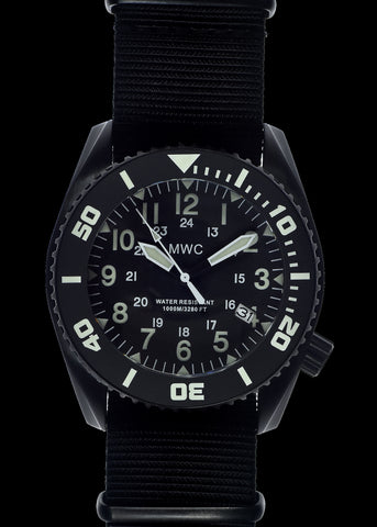Heavy Duty 300m Military Divers Watch Stainless Steel (Automatic) 24 Hour Dial with Sapphire Crystal and Ceramic Bezel
