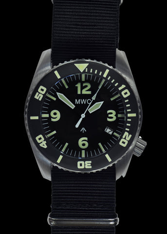 "MWC ""Depthmaster"" 100atm / 3,280ft / 1000m Water Resistant Military Divers Watch in Stainless Steel Case with Helium Valve (Automatic)"