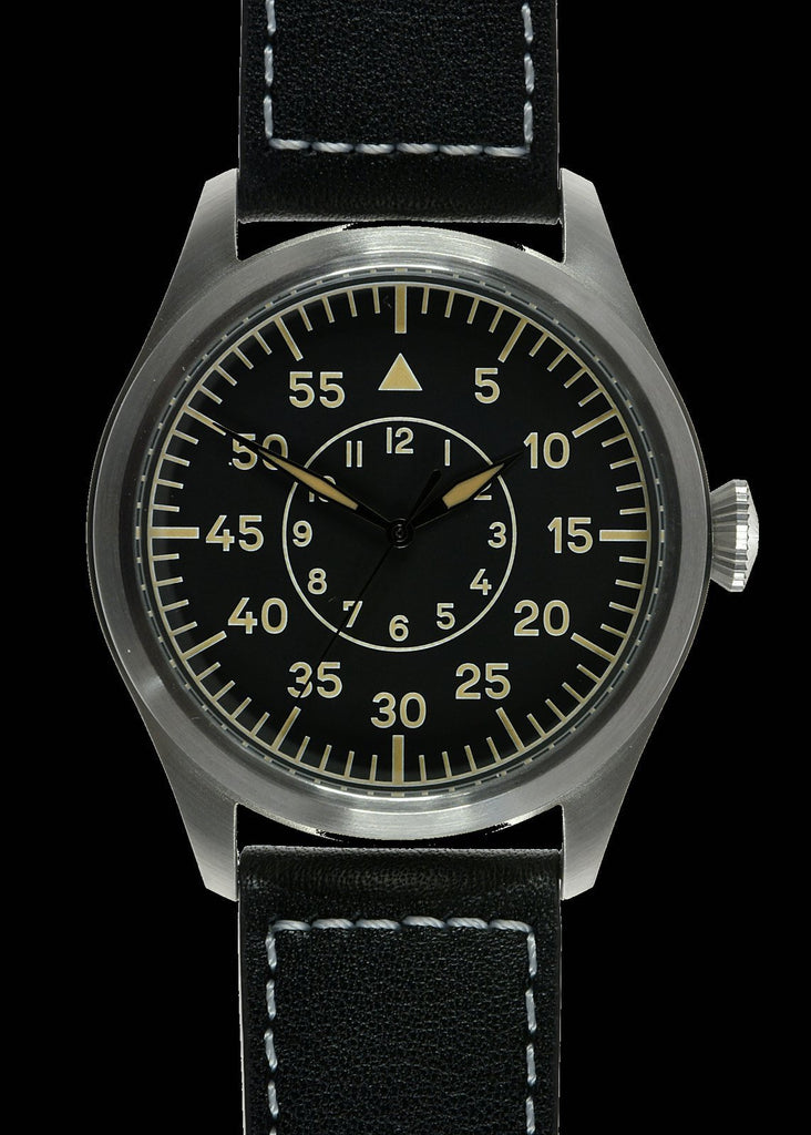 MWC Classic 46mm Limited Edition XL Luftwaffe Pattern Military Aviators Watch (Retro Dial Version)