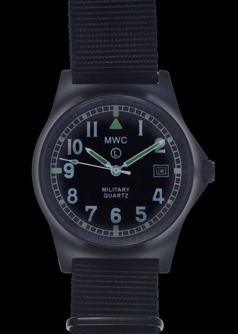 MWC G10LM European Pattern Military Watch in Covert Non Reflective Black PVD Steel