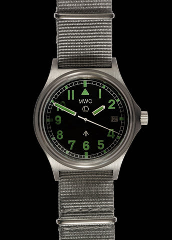 MWC G10 Automatic (330ft / 100m Water Resistant) General Service Military Watch with Sapphire Crystal and Two NATO Straps