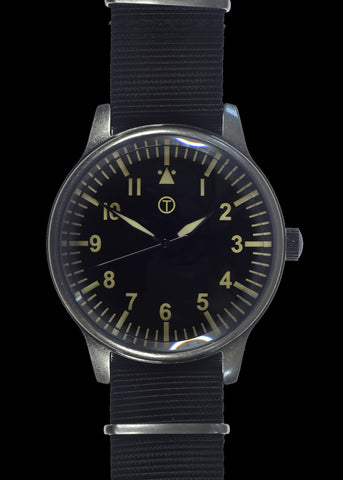 MWC Classic 44mm XL Retro Design Military Watch with 12 Hour Dial Format