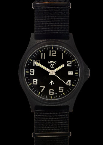 MWC MKIII Brushed Stainless Steel Military Watch with Tritium GTLS (Quartz)