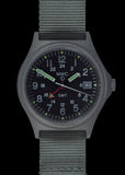 MWC GMT (Dual Time Zone) Water resistant Military Watch in Stainless Steel Case with Screw Crown