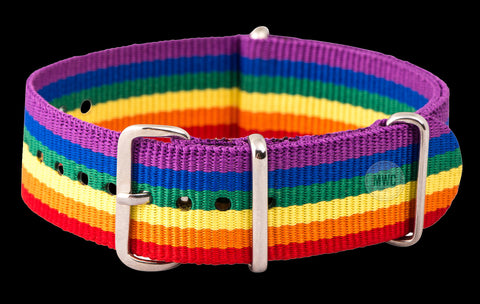 "20mm ""LGBT"" NATO Military Watch Strap"
