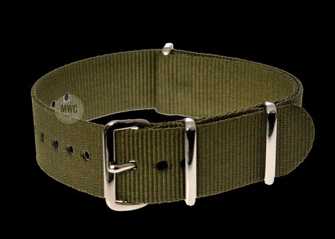 24mm Olive Green NATO Military Watch Strap