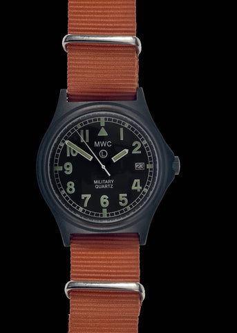 MWC G10 LM Non Date Stainless Steel Military Watch (Olive Green Strap)
