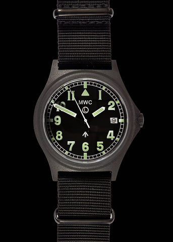 MWC G10 LM Stainless Steel Military Watch (Non Date) Black NATO Strap
