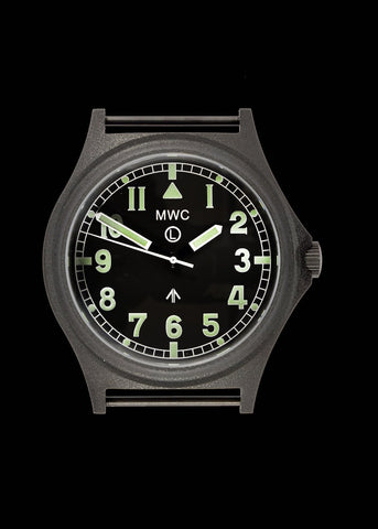 MWC G10 100m PVD Stealth Military Watch with Sapphire Crystal, Screw Caseback and Crown