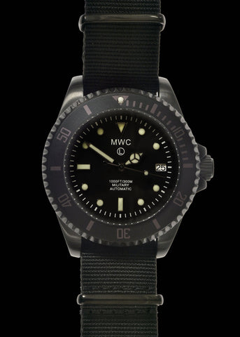 MWC 12/24 Military Divers Watch in PVD Steel Case (Automatic)