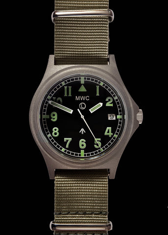 MWC G10 100m Water resistant Military Watch in Stainless Steel Case with Screw Crown and Sapphire Crystal