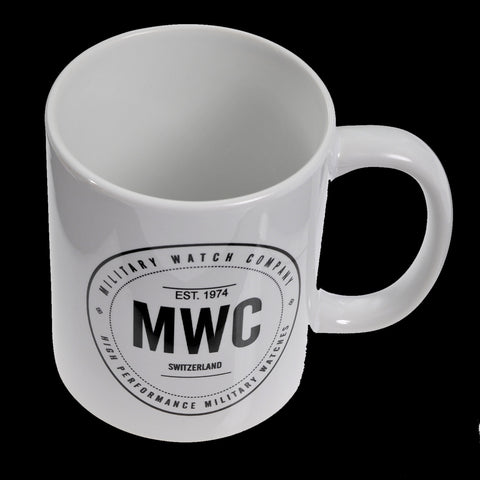 MWC White and Black 11oz Coffee Mug - Made in the USA