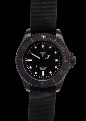 "MWC 300m / 1000ft PVD Quartz Military Divers Watch on ""James Bond"" NATO Strap"
