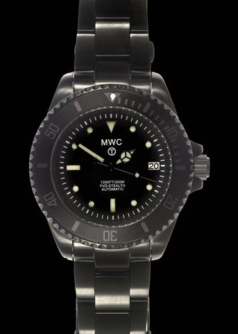 MWC 24 Jewel 300m Automatic Divers Watch on a PVD Bracelet - Last Few Reduced Before Launch of 2021 Model