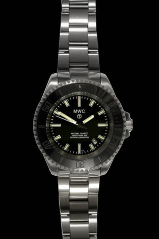 MWC 300m Military Quartz Divers Watch with Tritium GTLS