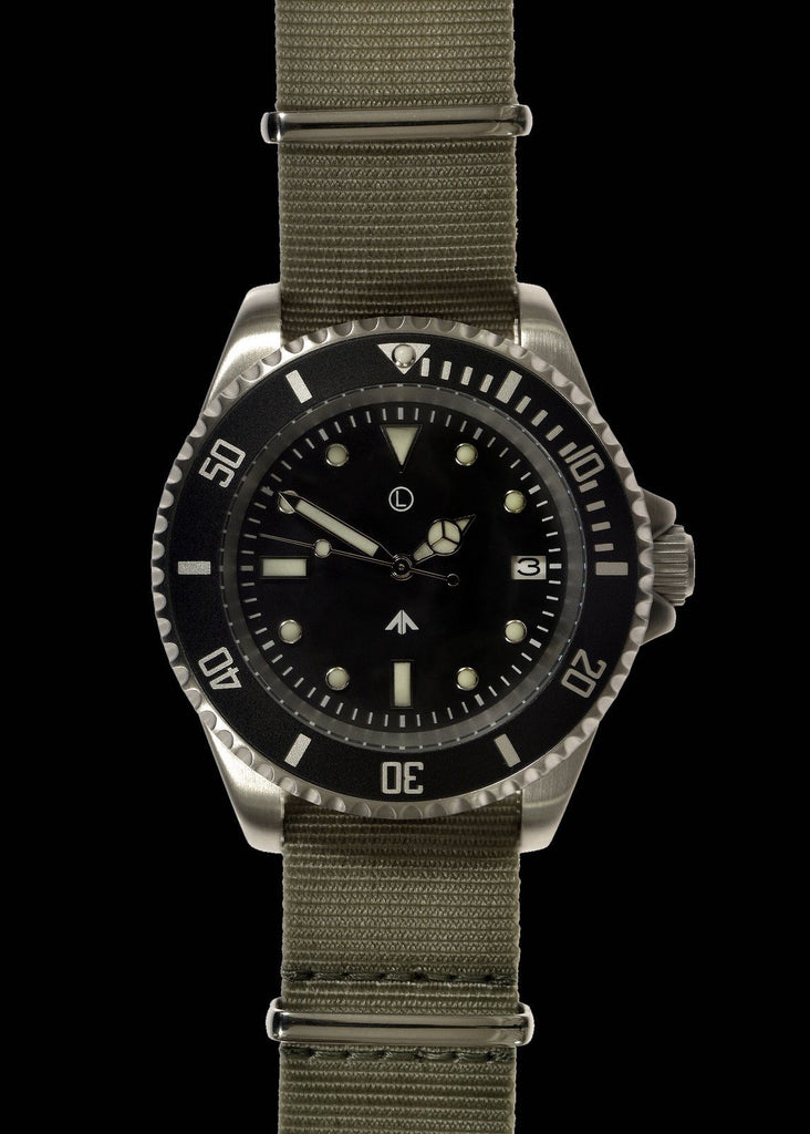 MWC 24 Jewel 300m Automatic Military Specification Divers Watch (Sterile)
