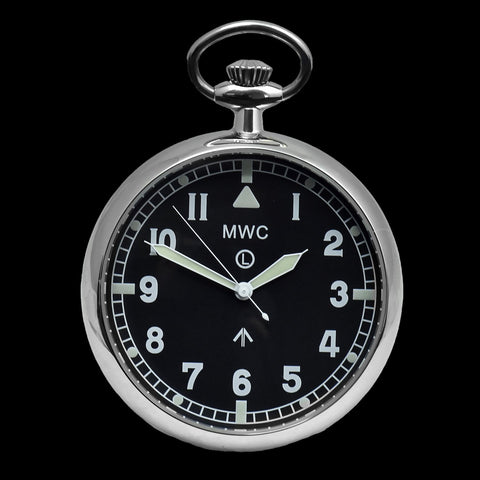 General Service Military Pocket Watch (Hybrid Movement with Black Dial) - - We have 3 of these pocket watches reduced to clear which were used for photography and promotion purposes