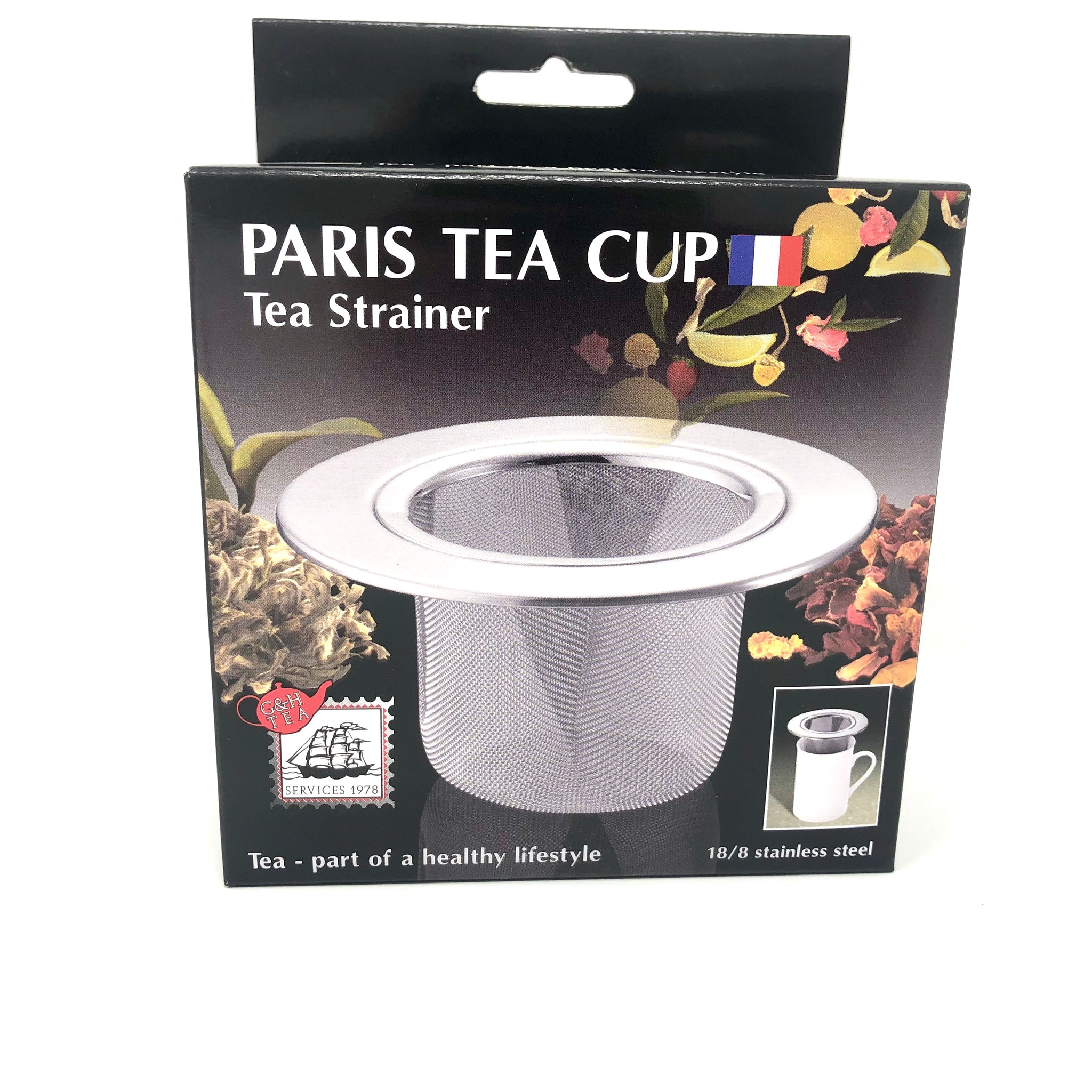 Paris Tea Cup Tea Strainer