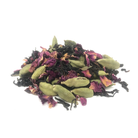 CARDAMOM ROSE (Organic Black Tea Blend)