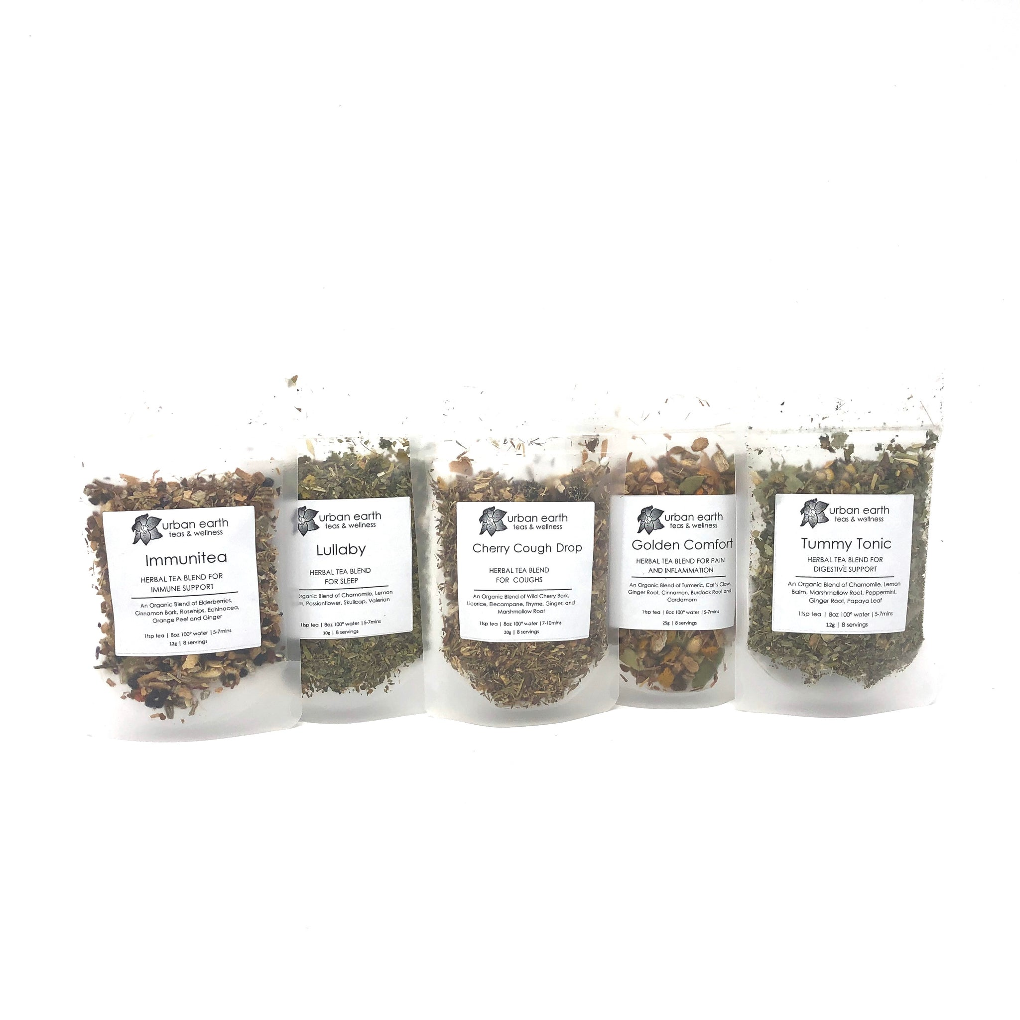 Herbal First Aid Kit: Set of 5 Teas
