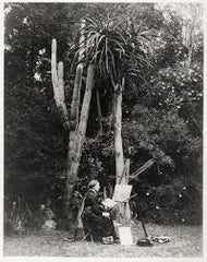 Marianne North Painting in the botanical gardens