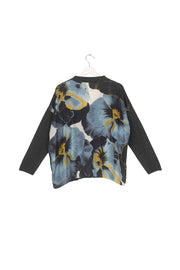 Pansy Charcoal Oversized Cardigan