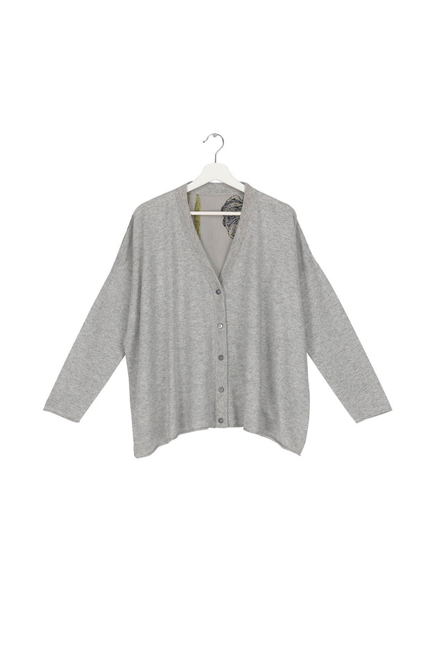 Iris Grey Oversized Cardigan