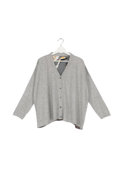Stork Grey Oversized Cardigan